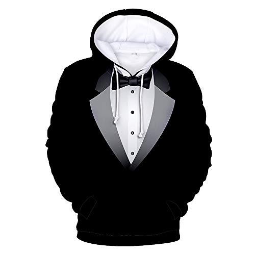 SALEBLOUSE Männer 3D Hooded Hoodies Teens Langarm gefälschte Zweiteilige Tops Sweatshirts Pullover Herren Casual Fashion Sale Clearance Blusen Blazer mit Kangaroo Pockets Plus Size
