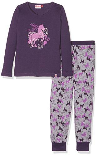 Lego Wear Mädchen Lego Girl Friends Nevada 727-Schlafanzug/Pyjama Zweiteiliger Schlafanzug, Violett (Dark Purple 696), 122