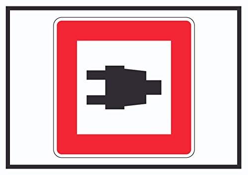 HB_Druck Uso De Landstromanschlüssen Símbolo Signo De - A4 (210x297mm)