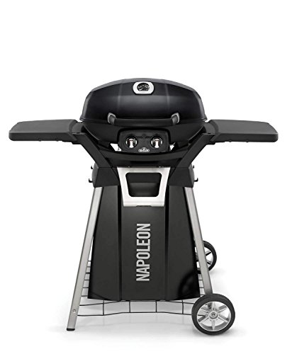 Napoleon TravelQ Pro Portable Gas Grill with Cart and Side Shelf Kit (PRO285-BK-PRO285-STAND)