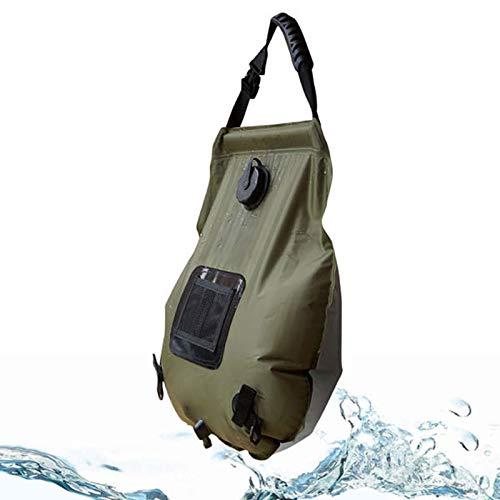 Unbekannt Hot Water Taschen Llq Outdoor-Camping-Portable Solar Heizung mit Thermometern Folding-Qualitäts-heißen Wasser-Dusche-Beutel, Kapazität: 20L