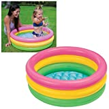 Intex 58924 - Piscina Baby 3 Anelli, 86 x 25 cm,...
