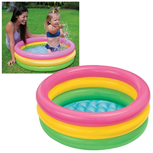 Intex Inflatable Kids Bath Tub, 3 Ft (Multicolor)