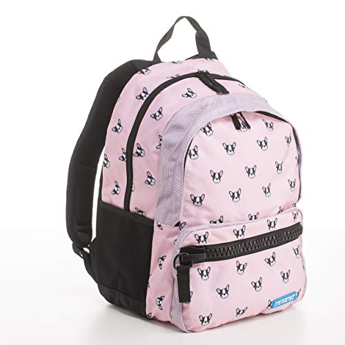Zaino Mitama Unlimited Pink Dog - rosa, 30 LT, Triplo scomparto, megazip, scuola elementare e medie