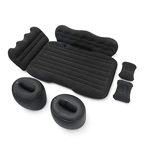Clevoers Luftmatratze für das Auto, mit Pumpe, aufblasbares Kissen, tragbar, ergonomisch, abnehmbar, multifunktional, faltbar, 125 x 80 x 10 cm