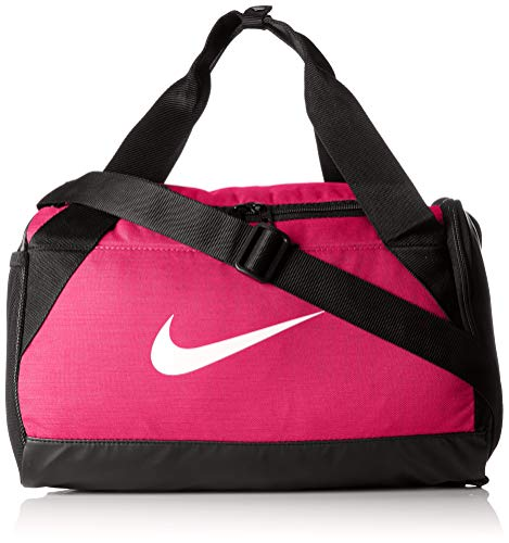 Nike Synthetic 21 cms Rush Pink/Black/White Gym Bag (BA5432-644)