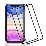 "POOPHUNS Protector de Pantalla para iPhone 11/iPhone XR 6,1"",2 Pack Cristal Templado para iPhone 11/iPhone XR,Alta Definicion,9H Dureza,Resistente a Arañazos"