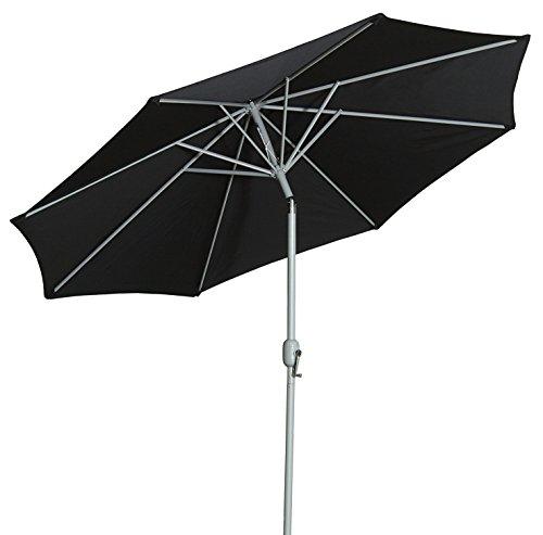 Gartenfreude Sonnenschirm, Durchmesser 270 cm, UV 50+, 270 x 270 x 245 cm, schwarz, 4900-1000-102