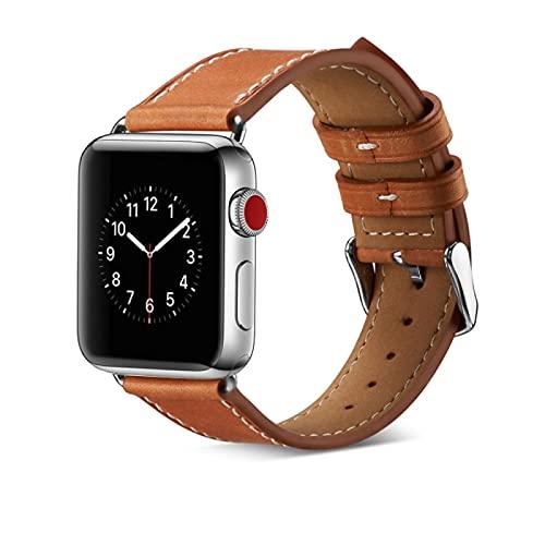 Lederarmband mit Apple Watch Armband 38/40mm, Wechselarmband Lederband Kompatibel mit Apple Watch Serie 6/Serie 5/Serie 4/Serie 3/Serie 2/Serie 1/Apple Watch SE