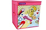 Tweety Toy Organizer & Storage Box with Top Lid, Foldable Toys organiser, Laundry