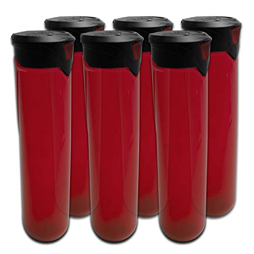 Virtue PF165 Press Flick Locking Lid Paintball Pods - 6 Pack - Red