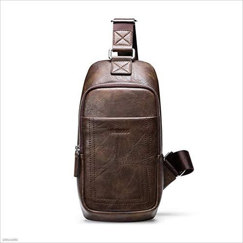 01Vintage Männer Schultertaschen große Kapazität Leder Schulter quer körperTaschen Reisen Rucksäcke kleine Rucksäcke,Brown