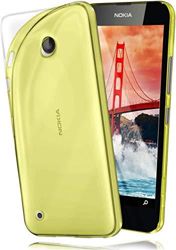 MoEx Cover Trasparente Compatibile con Nokia Lumia 530   Anti-Scivolo ed Extra Sottile, Giallo