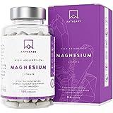 Citrato de Magnesio Capsulas de AAVALABS [1496 mg por dosis diaria] - Alta Dosis de Magnesio Elemental [448.8 mg por dosis] - Puro y Vegano - 180 Cápsulas - Dosis Diaria 2 Cápsulas