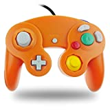 TechKen Gamecube Controller Joystick für Wii Wired Game Controller Joypad Dual Vibration NGC Gamepad Game Cube Original Controller Gamecube Spiele für GC (Orange)