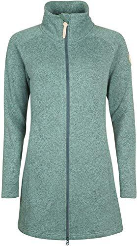 Elkline Bestcondition Damen Strickfleece-Mantel, Deutsche Größen:40, Farben:Malachite Green