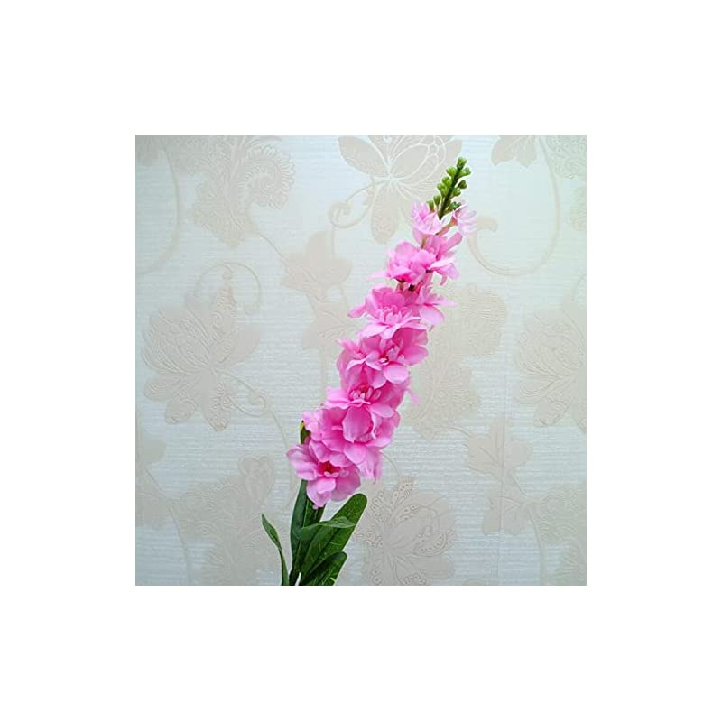 silk flower arrangements artificial and dried flower 5pcs fake gillyflower branch violet flower stem 90cm hyacinth for event wedding party artificial decorative flowers - ( color: 003 )