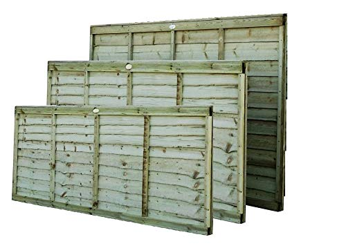 Premier Larch Lap Fence Panel Available in 3 Sizes Overlap Fencing Garden Security (183cm Wide x 90cm Tall (6x3))