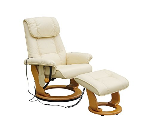 Alpha Techno Massagesessel, Lederimitat, beige