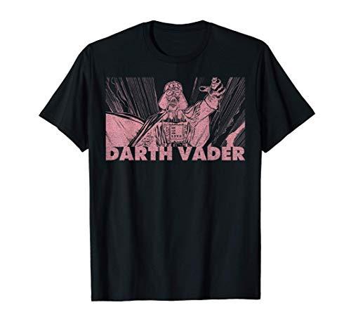 Stars Wars Darth Vader Pink Hue Stamp Camiseta