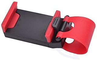 Vehicle Multi-functional Mobilephone Holder Mount for Smartphone Clip Buckle Socket Hands Free on Car Steering Wheel