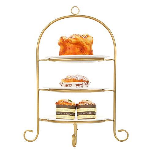 GL-GDD Multi-Layer Bird Cage Dessert Stand Cupcake Stands, Food Server Display Stand Reusable Pastry Platter for Wedding Birthday Christmas Party,A