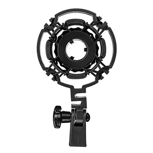 KYEEY Soporte de micrófono Micrófono Montaje de Choque Soporte Clip for AKG C414B C3000B C4000B XLS C2000B H-85 Negro Soporte de micrófono Profesional Boom (Color : Black, Size : M)