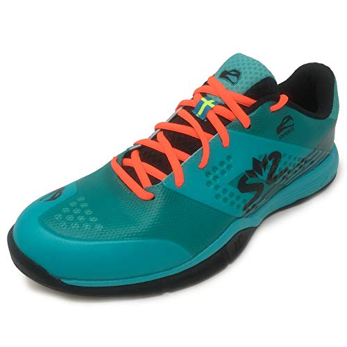 Salming Viper 5 Squash Indoor Court - Zapatillas deportivas para hombre, color turquesa y negro, 13
