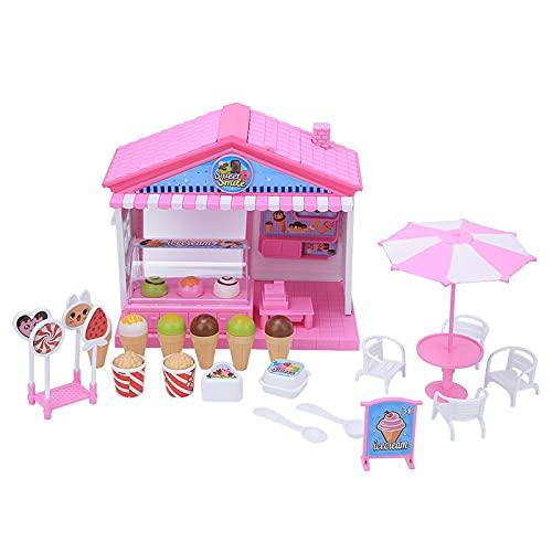 KUIDAMOS Juguete de la Tienda de Helados, Juguete de la casa del Juego, Juguete Liso Durable plástico del niño para el niño para la diversión(Ice Cream Shop)