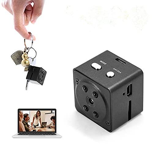 Mini cámara oculta HD 1080P, cámara de vigilancia de seguridad para el hogar, cámaras pequeñas, videocámara con sensor con detección de movimiento de visión nocturna por infrarrojos
