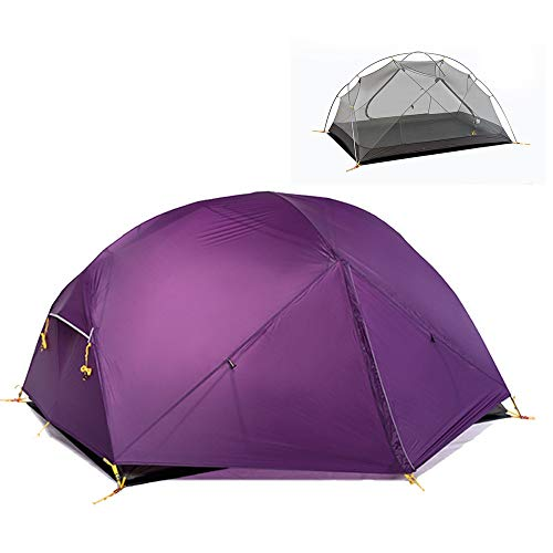 JooGoo Outdoor 2-3 Person Dome Tent Ultra Light Camping Dubbele Winddichte Regendichte Zonnebrandcrème Verdikkende Tent