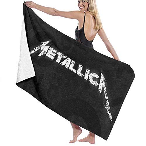 AGHRFH Metallica - Toalla de playa de algodón retro, absorbente, toalla de baño de secado rápido para mujeres, niños y hombres