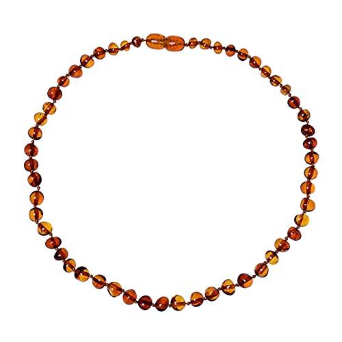 GDYJP Collar de ámbar báltico (Unisex) Joyas de Cuentas de ámbar Hecha a Mano Natural (Color : A)