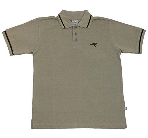 KangaROOS Poloshirt T-Shirt Khaki Basicshirt Gr. 140