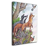 Skydoor J パネル ポスターフレーム 動物 狐 蛇 ふくろう インテリア アートフレーム 額 モダン 壁掛けポスタ アート 壁アート 壁掛け絵画 装飾画 かべ飾り 50×40