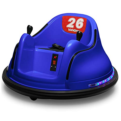 Kidzone DIY Race #00-99 6V Kids Toy Electric Ride On Bumper Car Vehicle Remote Control 360 Spin ASTM-Certified Dark Blue