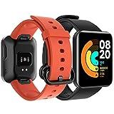 GeeRic Correa Compatible para Xiaomi Mi Watch Lite,2pcs Silicona Pulseras de Repuesto Compatible para Xiaomi Mi Watch Lite