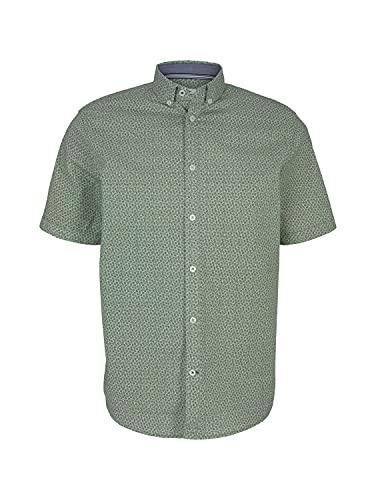 TOM TAILOR Herren 1024754 Basic Hemd, 26980-Green Navy Minimal, L
