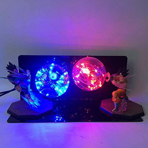 Dragon Ball LighteDragon Ball Soleil Wukong Main Creative Lampe de table Led Lampe de bureau Wukong Vegeta Vague Creative Rouge Bleu