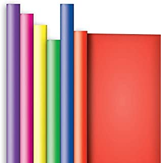 Jillson Roberts 6 Roll-Count All-Occasion Solid Color Gift Wrap Available in 10 Different Assortments, Crayon Box