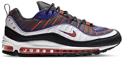 Nike Air MAX 98, Zapatillas de Atletismo para Hombre, Multicolor (Gunsmoke/Team Orange/Laser Orange/White 000), 42 EU