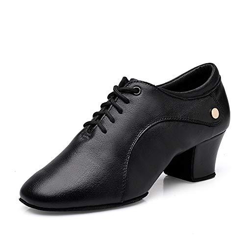 para Hombre Zapatos De Baile, Zapatos De Jazz De Piel con Cordones De Los Zapatos De Baile Latino De Baile Cómodo,Outdoor,34