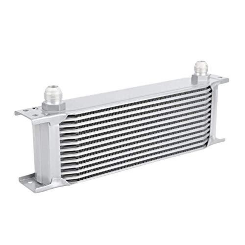 WOVELOT Radiador de Aluminio 13 Filas Tipo BritáNico Motor de Coche Enfriador de Aceite Enfriamiento del Radiador de RefrigeracióN Enfriador Universal
