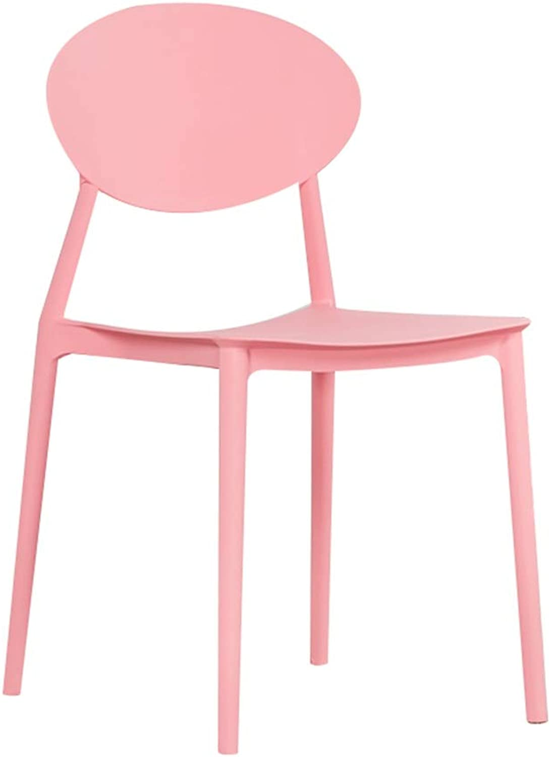 AGL-Bathroom Stools Chair Multipurpose Plastic Backrest Non-Slip Modern Creative Leisure Restaurant Lazy Chair,Multiple Colour (color   Pink, Size   44X47X82CM)