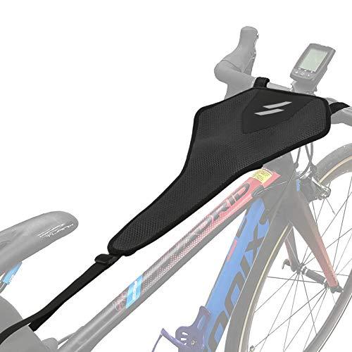 Achort Protezione Antisudore per Bici a Rete Protezione Antisudore per Telaio per Allenamento Protezione Anti Sudore in Rete per Telaio della Bicicletta Attrezzo Sportivo