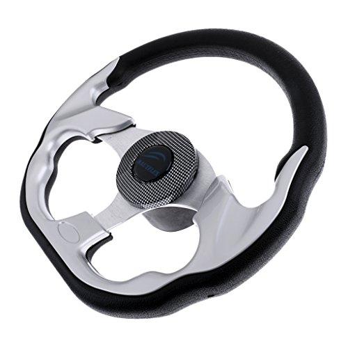 Shiwaki 310 Mm Aleación De Aluminio Forma En Forma De Barco Marino Volante 3 Radios 3/4 '' Key Way Cónico para Lancha Motora Costilla Ribete De Motor De Cruce