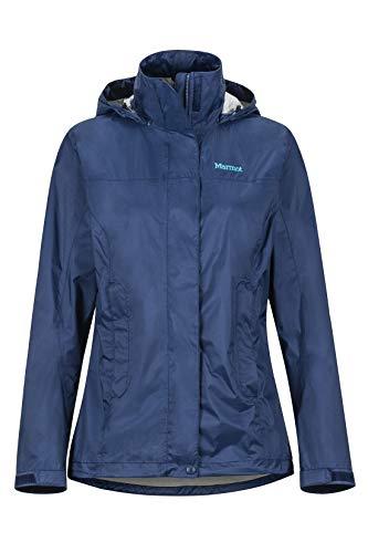 Marmot Damen, PreCip Eco Jacket Hardshell Regenjacke - winddicht wasserdicht atmungsaktiv, Arctic Navy, XS