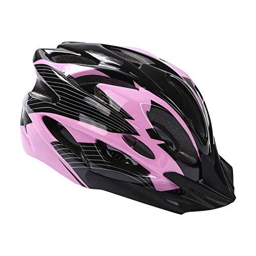 Casco da bicicletta, per mountain bike, per adulti, regolabile, con visiera rimovibile, per MTB City Specialized, per bici da corsa, per uomini e donne (rosa)