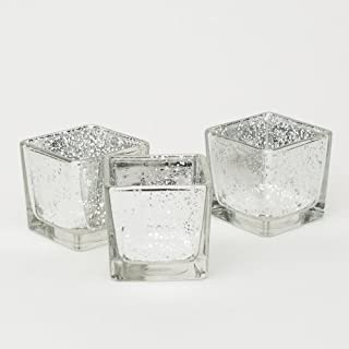 Richland Silver Mercury Square Votive Holders Set of 72