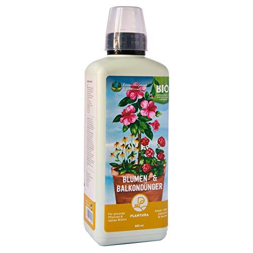 Plantura Bio Blumen- & Balkondünger, Bio Flüssigdünger für Blühpflanzen, 800 ml